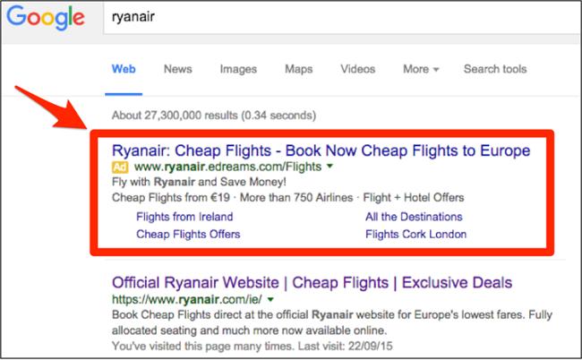 quảng cáo google mang tìm kiếm