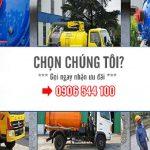 Dịch vụ hút hầm cầu, thông cầu cống nghẹt chuyên nghiệp, giá tốt