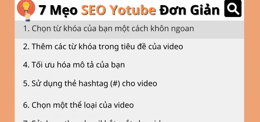 Mẹo SEO youtube đơn giản