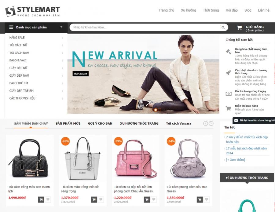SEOViP- đơn vị thiết kế website thời trang, vali chuyên nghiệp, chuẩn SEO