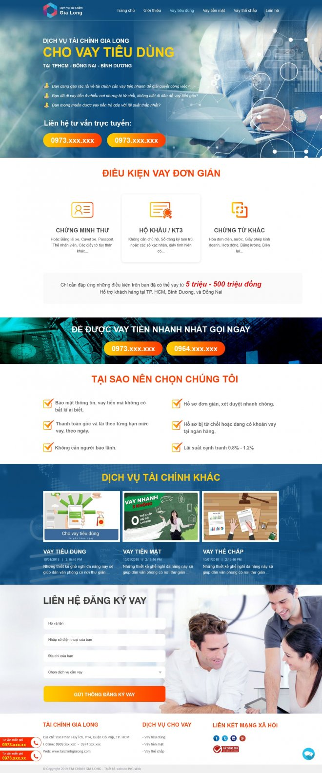 Các tính năng một website Ngân hàng, tín dụng, thế chấp phải có