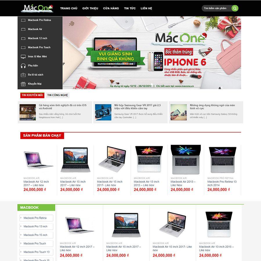 Website Linh kiện máy tính, mua bán sửa chữa điện thoại mang yếu tố thẩm mỹ, sang trọng