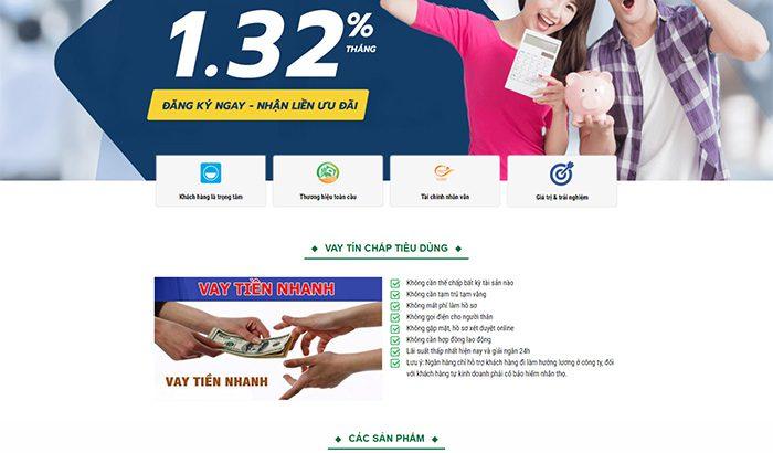 Thiết website Ngân hàng, tín dụng, thế chấp