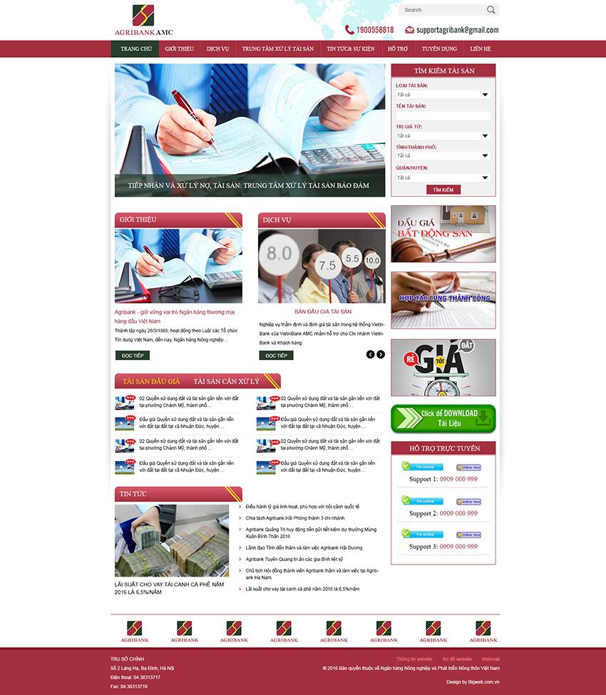 Website Ngân hàng, tín dụng, thế chấp mang yếu tố thẩm mỹ, sang trọng