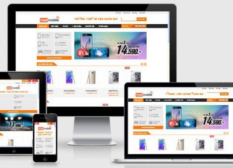 Thiết kế website Linh kiện máy tính, mua bán sửa chữa điện thoại